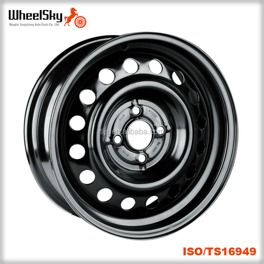 15 Inch 15x60 Pcd 4x98 Stable Run Out Snow Wheel Black Steel Rim
