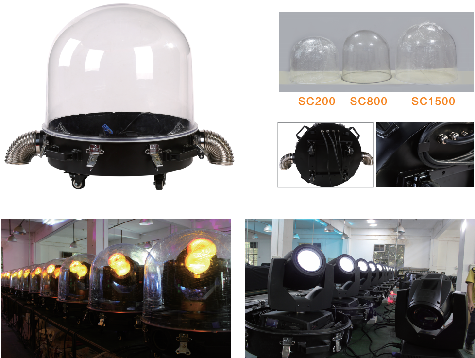Ip65 Waterproof Outdoor Moving Head Light Dome Rain Cover
