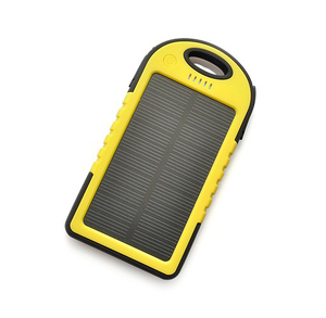New Waterproof Solar Power Bank 4000mAh Portable Charger Travel Enternal Battery case