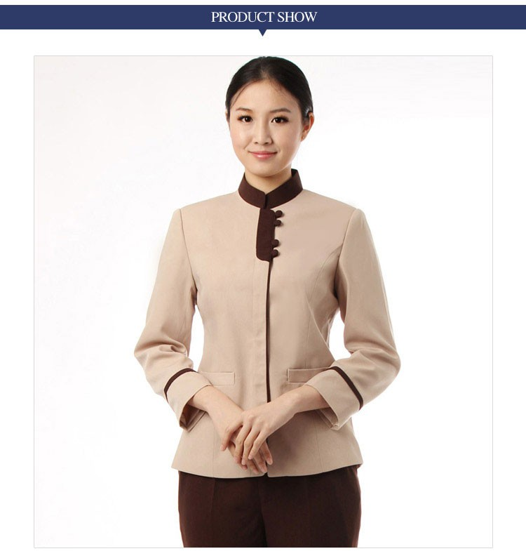 Wholesale 35% Cotton 65% Polyester Housekeep Uniform For Hotel