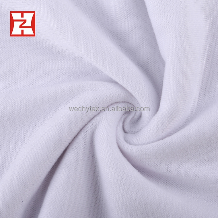 knit polyester fabric specification, cheap one way stretch polyester white fabric for sublimation
