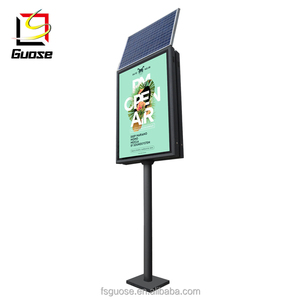 street lamp pole solar systems LED green advertising board