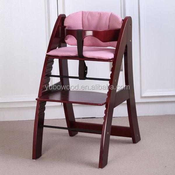 Kitchen Adjustable Safety Baby High Chair Wooden High Chair