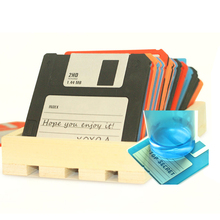 Floppy disk replica sottobicchiere- set di 6- retrò <span class=keywords><strong>sottobicchieri</strong></span>- coppa del coaster silicone