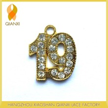 19 Gold Blings/rhinestones Charm For Graduation