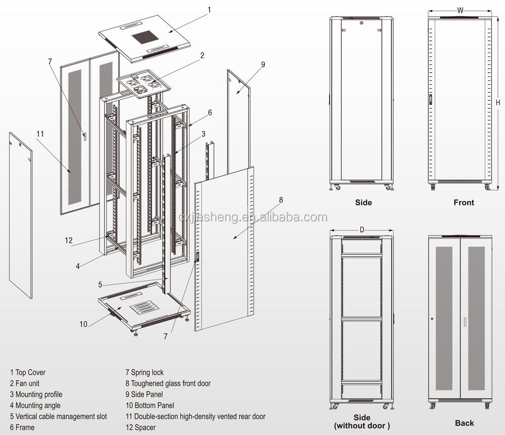 toten 42u rack cabinet pdf
