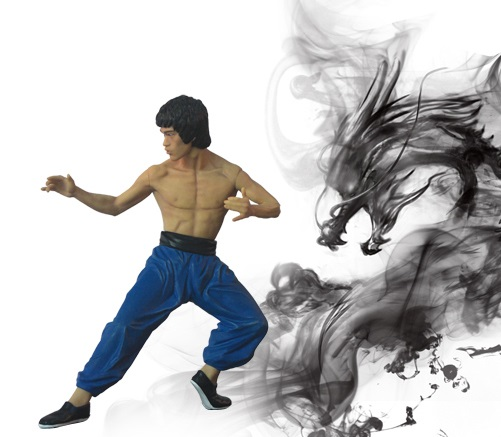 Kustom lee kongfu artikulasi action figure