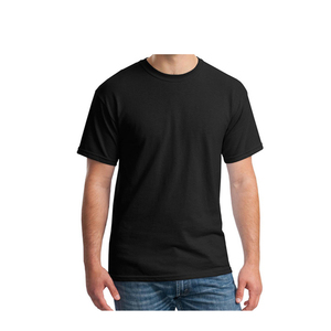 200gm blank shirt 100% cotton cheap black t-shirt men