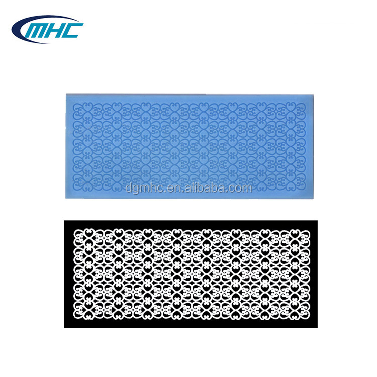 Fondant silicone lace mat, silicone lace molds for cake decorating