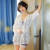 HSZ 7110 New ladies cotton suspenders shorts lace home pajamas set