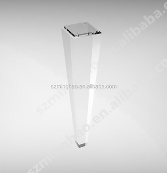 Beau Customized Modern Clear Acrylic Furniture Legs Acrylic Table Legs