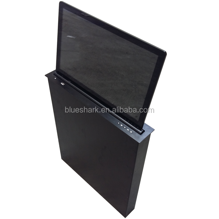 Table mount touch screen conference desk lcd monitor lift