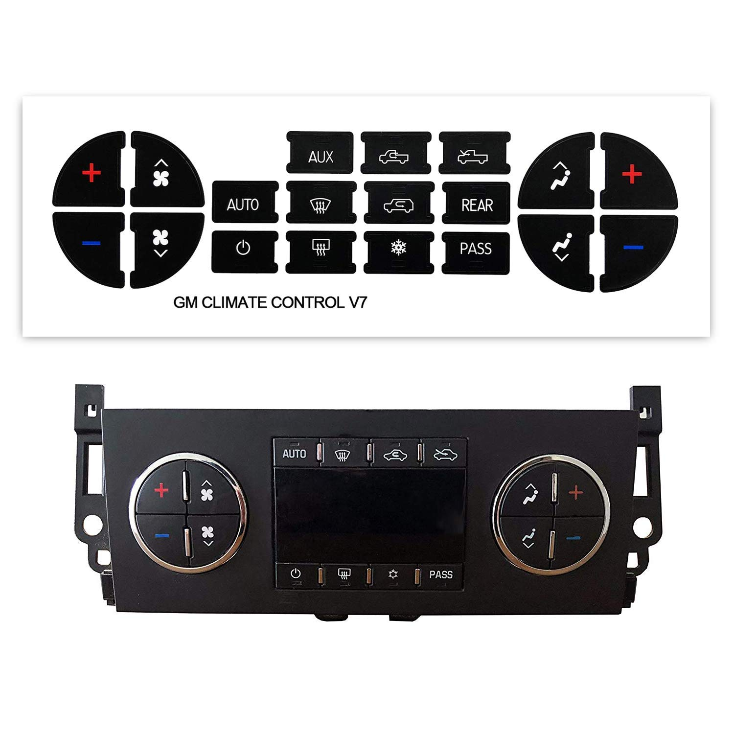 Get Quotations Ac Dash On Repair Kit A C Control Panel Stickers Dashboard Replacement Decals To