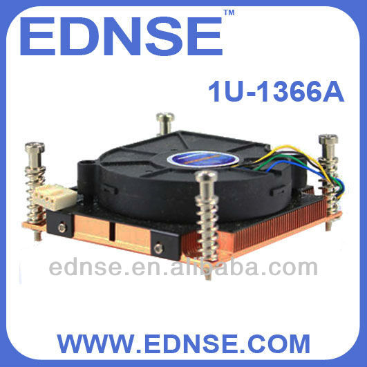 EDNSE CPU Cooler 1U-1366A Radiator/heat sinks/fan for cpu lga 1366