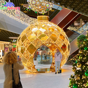 CE ROHS Giant large outdoor christmas ornaments balls