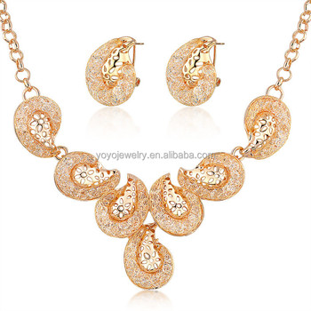 Top Designs 18k Gold Plated Jewelry Display Set Buy Jewelry