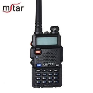 Mstar M-UV1 UHF 400-480MHz VHF 136-174MHz Dual Band Two Way Radio CE FCC Approved Walkie Talkie With Scrambler