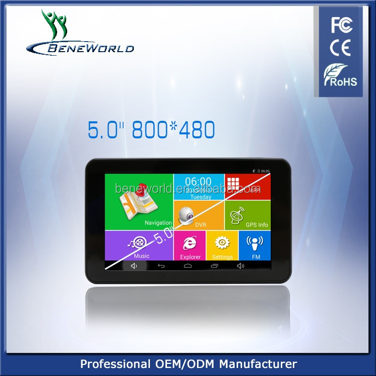 Android Small Tablet 5 Inch Car Gps Navigation With Bt/usb/sd/mp4/car Dvr -  Buy 5 Inch Car Gps Navigation,Car Gps Navigation,Peugeot 206 Gps
