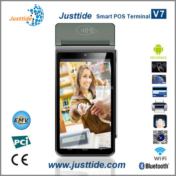 Justtide V7 Handheld Android 5.1 POS With Camera, POS With Touch Screen, POS With Card Reader