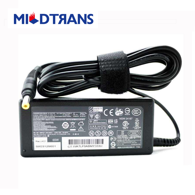 Laptop Adapter Notebook Charger for HP 19V 6.5A 5525