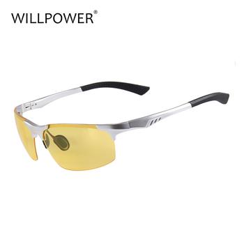dcbcc1f854 Day Night Vision Men s Polarized Sunglasses Driving Pilot Mirror Sun Glasses