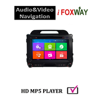 WVGA 8inch 16:9 digital LED screen car audio system with gps for sportage 2012