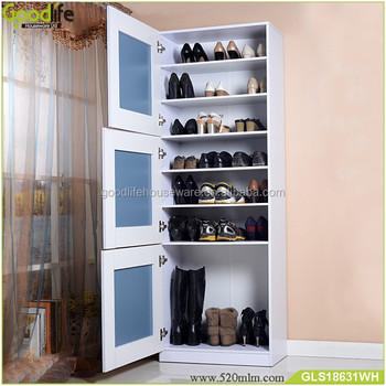 Cheap New Design 180cm Tall Shoe Racks Shoe Cabinet With Doors