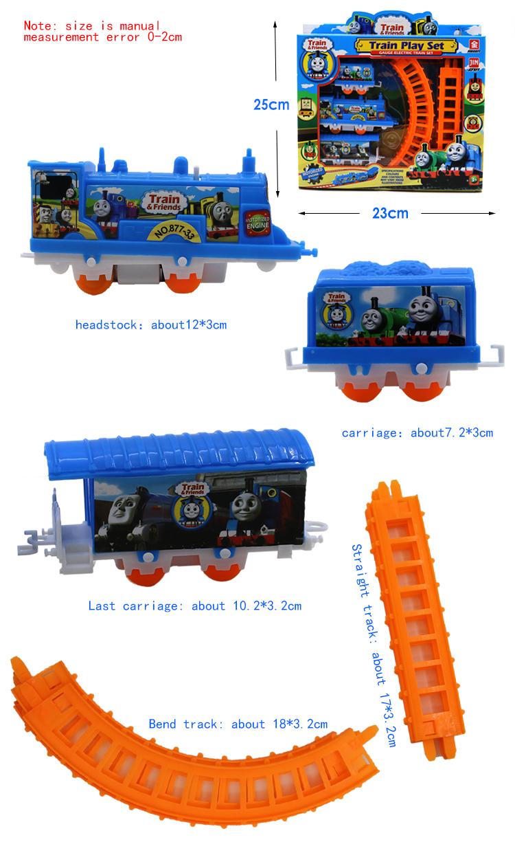 High quality plastic material kids toys cartoon train play set