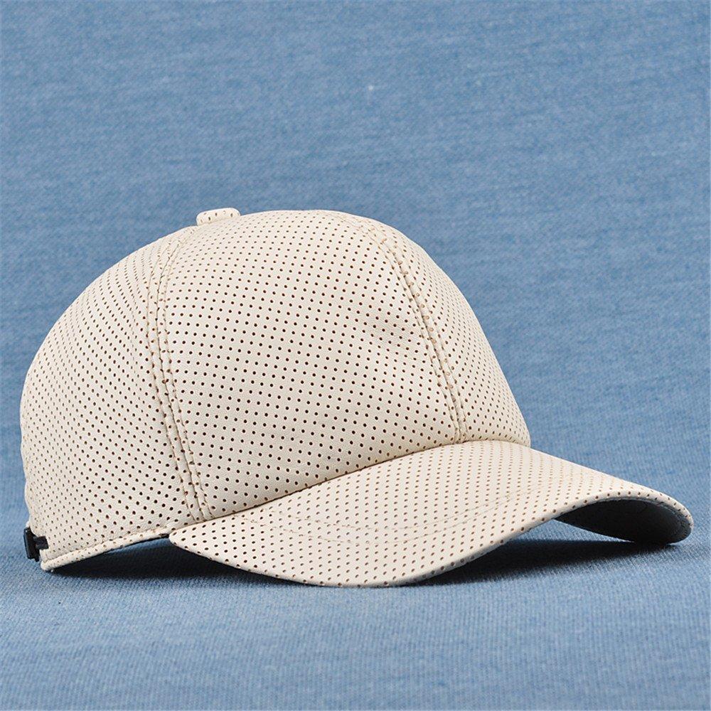c0d7f8c6273 Get Quotations · Hat leisure men and women winter Baseball Cap Hat male  leather sheepskin hat peaked cap