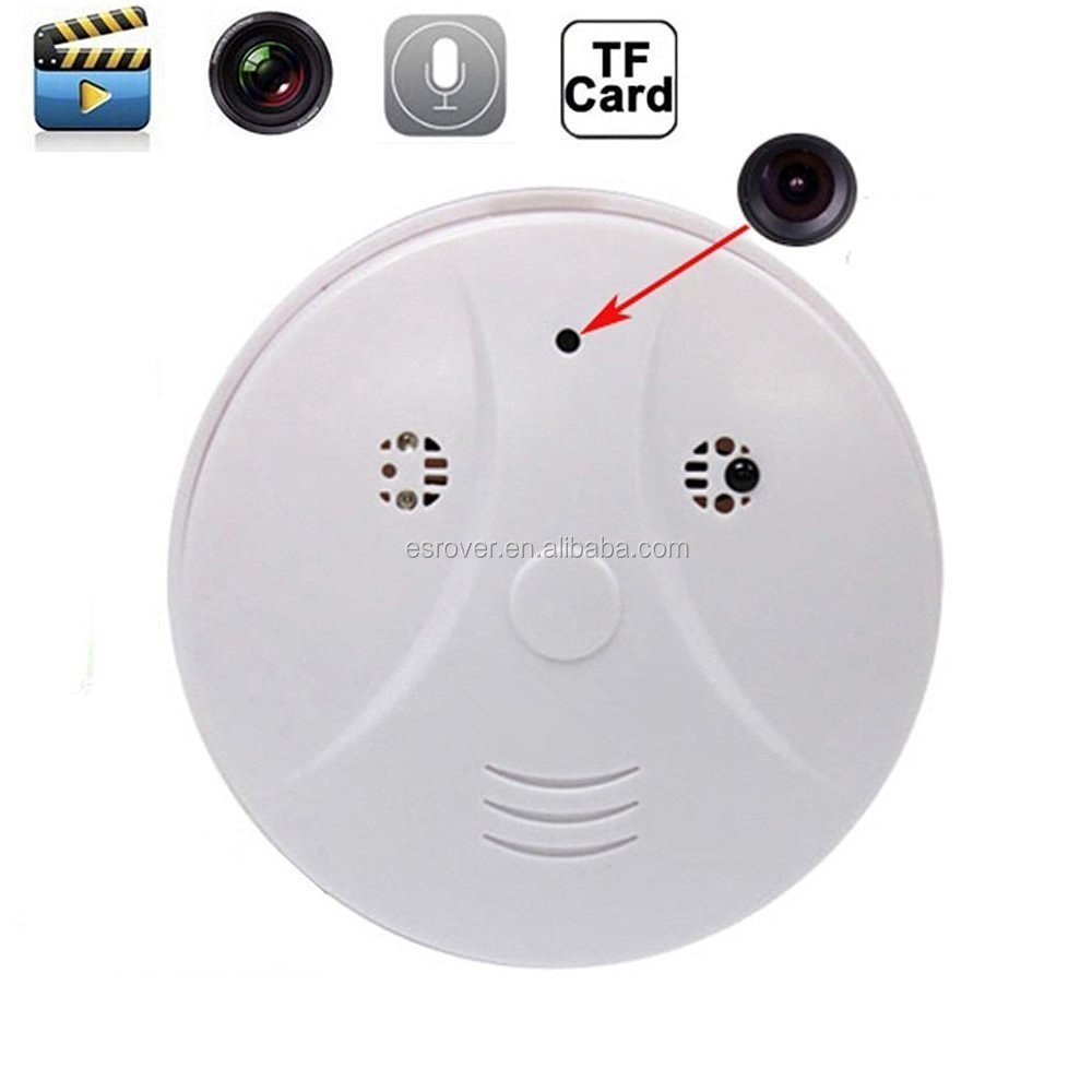 HD 1280*960 Mini DVR Security Hidden Spy Smoke Detector Motion Detection Activated Audio Recording Digital Video Recorder Camera