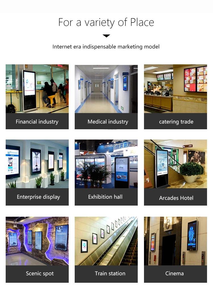 Indoor Horizontal Vertical LCD Screen Wall Mounted Advertising Display