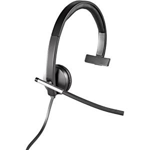 """Logitech Usb Headset Mono H650e - Mono - Usb - Wired - 50 Hz - 10 Khz - Over-The-Head - Monaural - Supra-Aural - Noise Cancelling Microphone """"Product Category: Audio Electronics/Headsets/Earsets"""""""