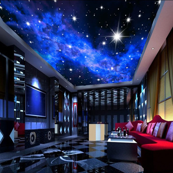 Exceptional Cool And Bright Interior Design Exterior Wall Murals Starry Night Sky  Wallpaper Decoration Part 30