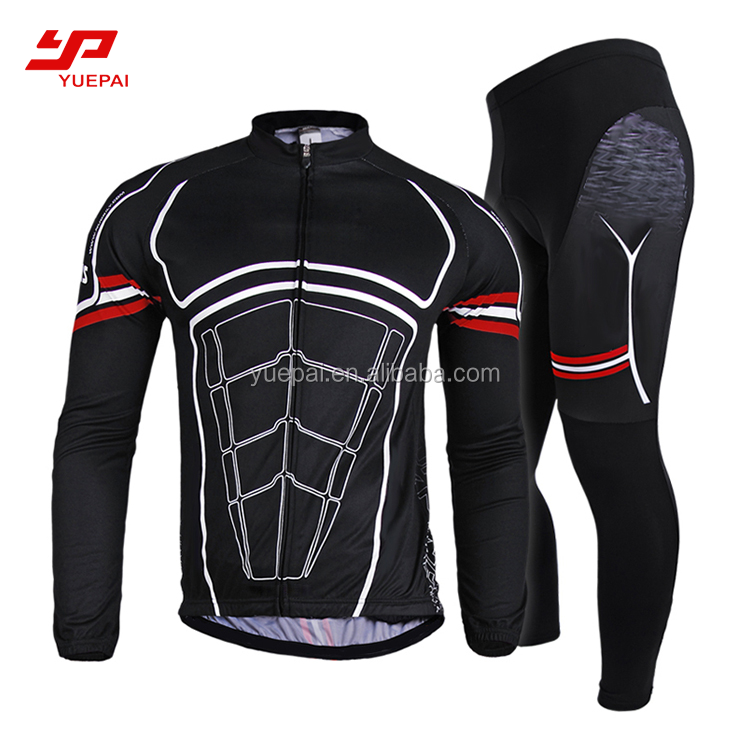 Wholesale cycling team jersey heat transfer sublimation custom racing cycling jersey set