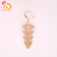 Top fashion superior quality beautiful girls real tree shape earrings