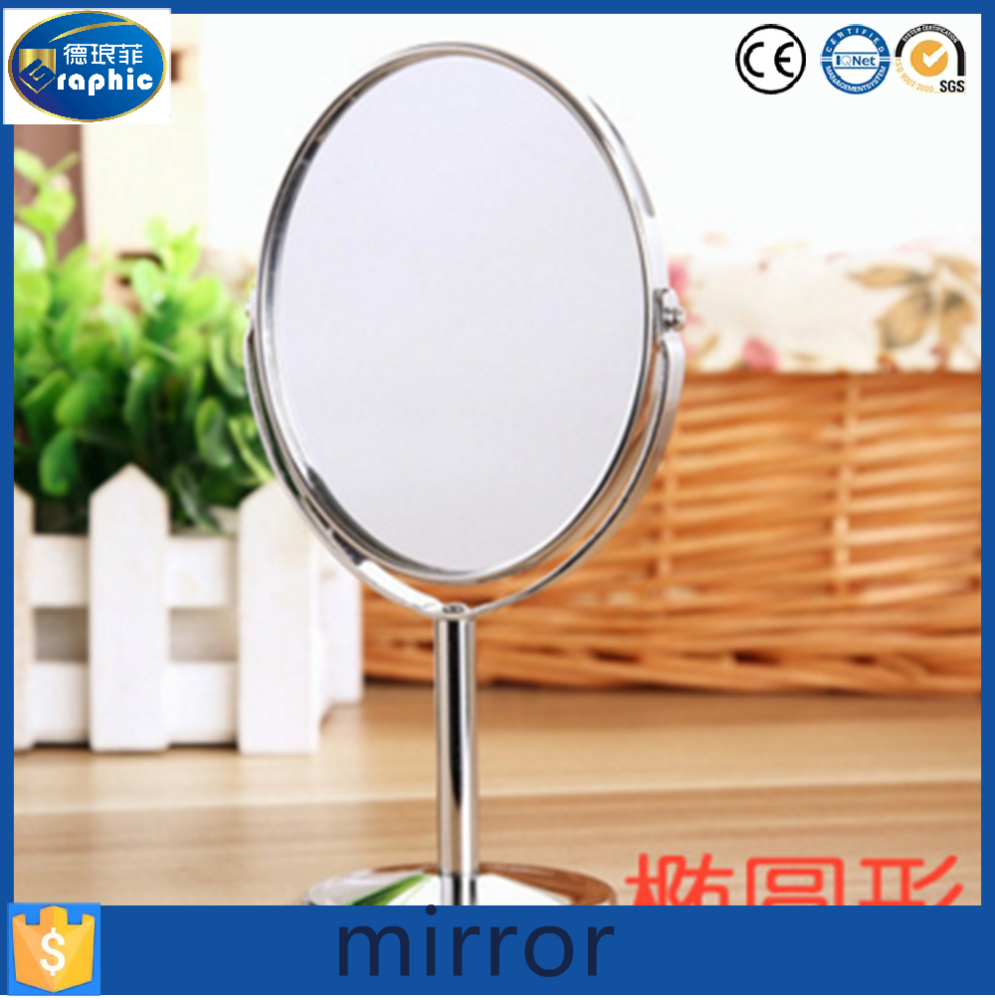 Metal frame 360 cosmetic desk makeup mirror in China