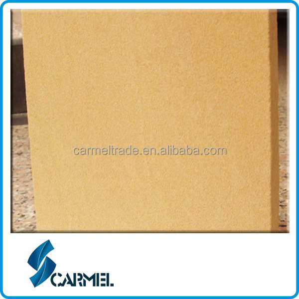 Chinese popular cheap golden sandstone tiles for construction