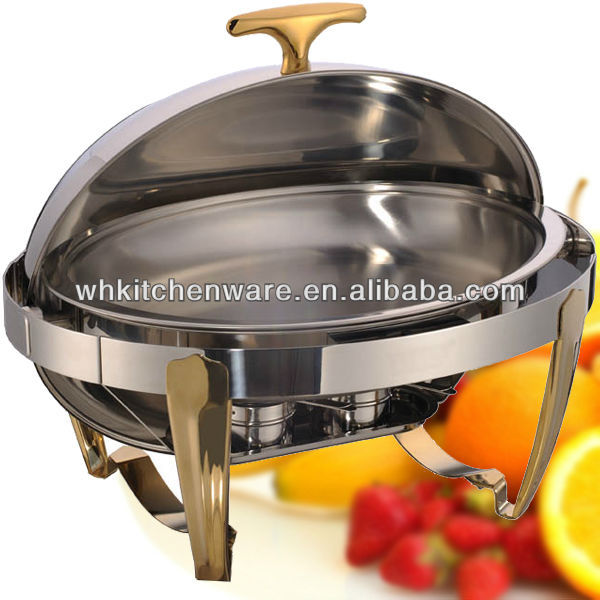 Deluxe Visible roll top chafing dish with window