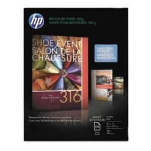 HP Brochure/Flyer Paper - For Inkjet Print - Letter - 8.50quot; x 11quot; - 48 lb - Matte - 103 Brightness - 1 / Pack - White