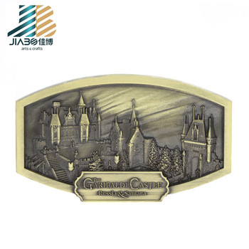 Factory Cheap custom personalized country souvenir copper fridge magnet zinc alloy