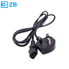 UK 13A 250V plastic power cord with and IEC60320 C13 power plug