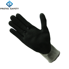 palm sandy nitrile coated &back tpr anti-impact safety gloves