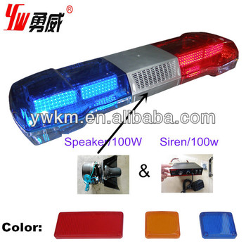 Red and blue led lightbar with 100w siren and speaker other color red and blue led lightbar with 100w siren and speaker other color can be ok aloadofball Gallery