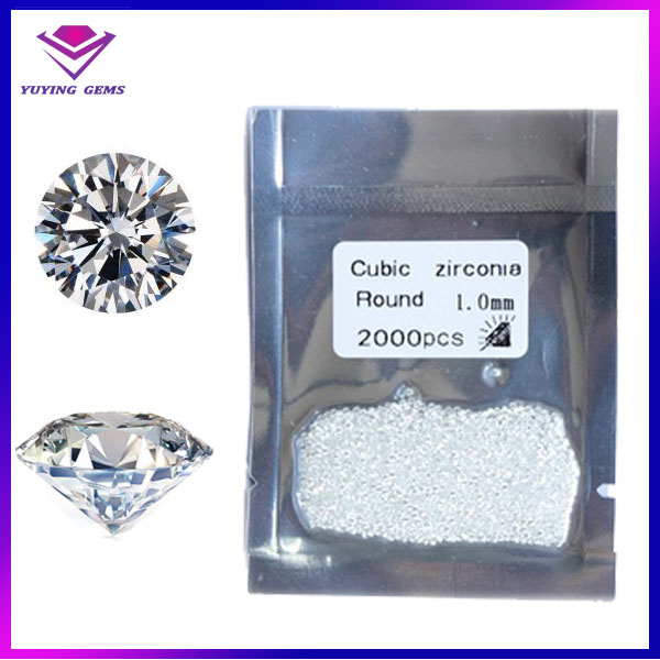 European Machine Cut Top Quality Cubic Zirconia Round Stones Made in China