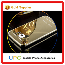 [UPO] 24k Golden Back metal aluminium Bumper Mirror cellphone case For Samsung Galaxy s6 edge