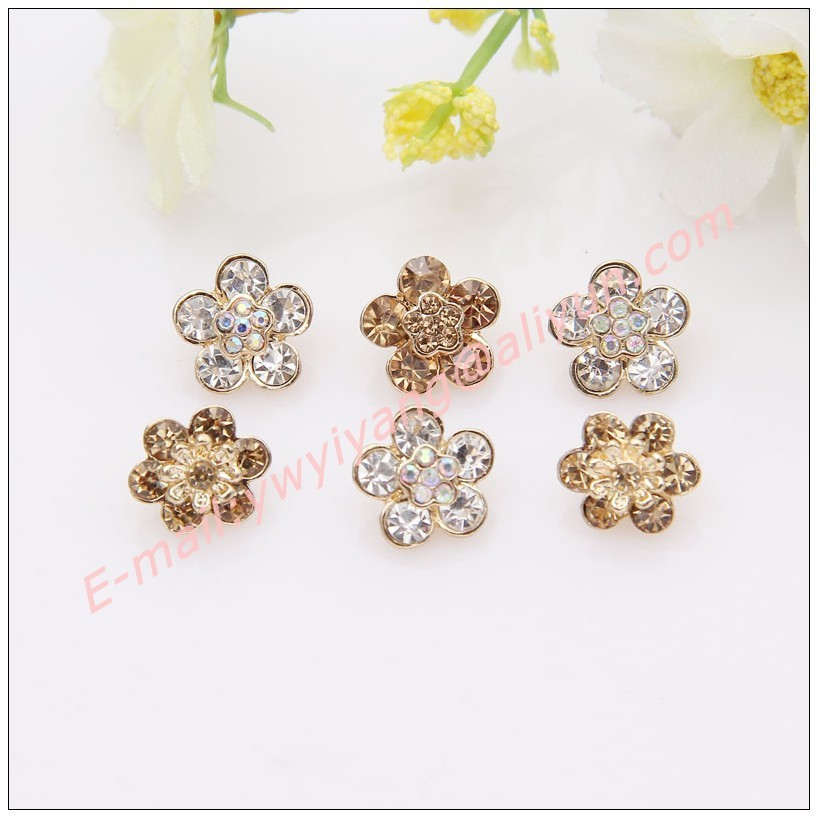 Buy Hot Sale Sparkle Rhinestone Flower shape Metal Sewing Decorative ... 6026d063e3c9