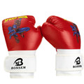 BONSEM Brand Cartoon Gloves PU Foam Kids Gifts Punching Boxing Glove Boys Girls Spider Man Gray
