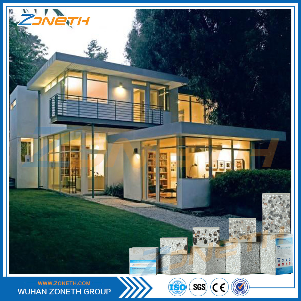 Fireproof Light 90mm Steel structure ready made house in india