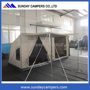 4x4 accessory newport car 3 - 4 person single layers c&ing roof tent pop up tent : newport tent - afamca.org