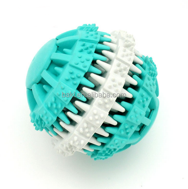 High Quality resistance to bite Molar Spiky Dog Toy Natural Rubber Dog Ball